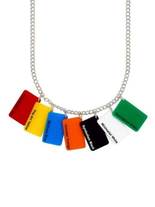 Colourful & Recycled Paint-Chip Jewellery