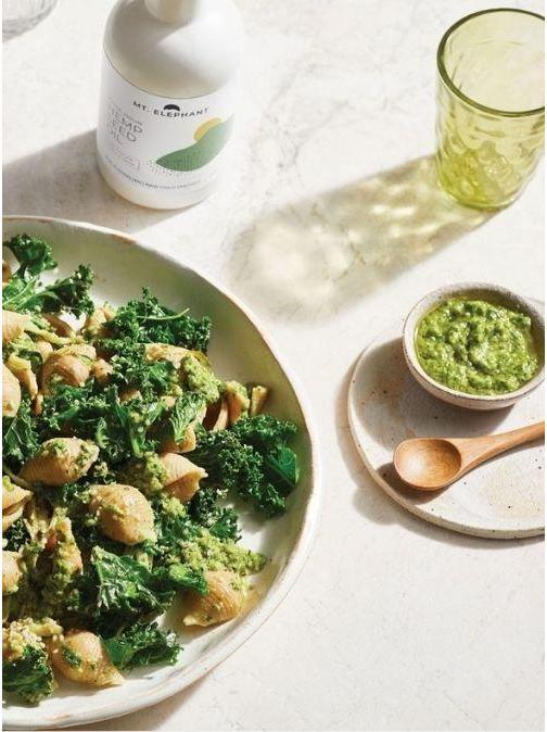 Hemp Kale Pesto Pasta Recipe
