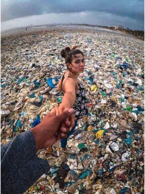 India Mumba Plastic Pollution