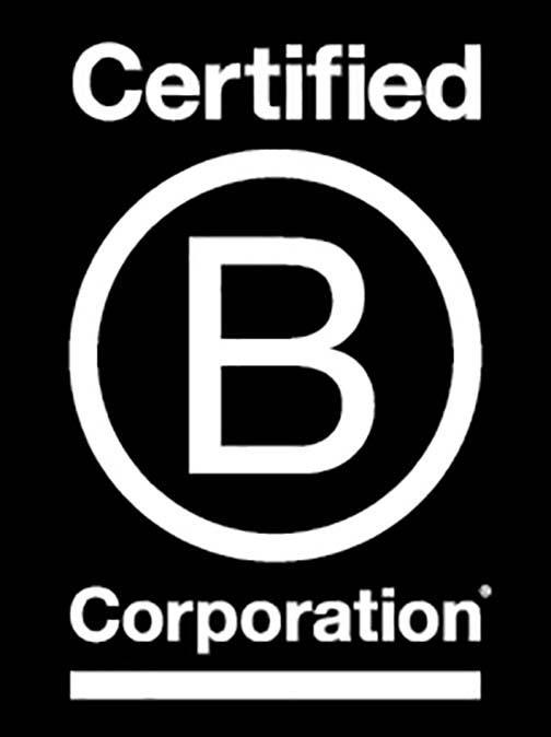 We are a Certified B Corp