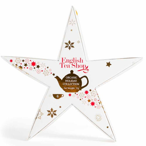 English Tea Shop Gift Pack White, Red & Gold Star