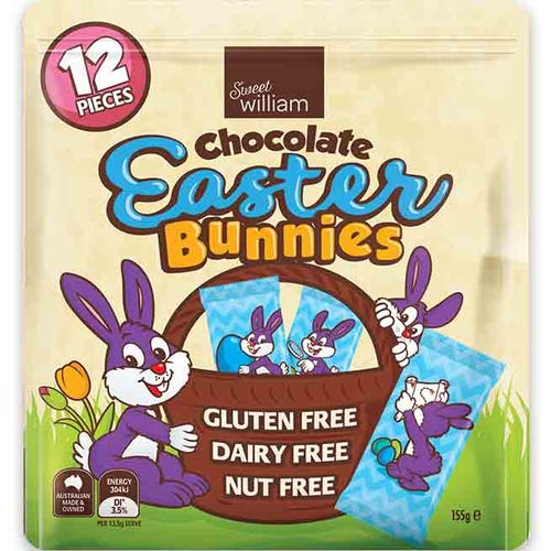Sweet William Easter Bunny Multipack (155g)