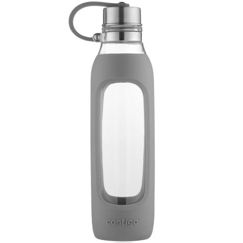 Contigo Glass Water Bottle - Smoke (591ml)