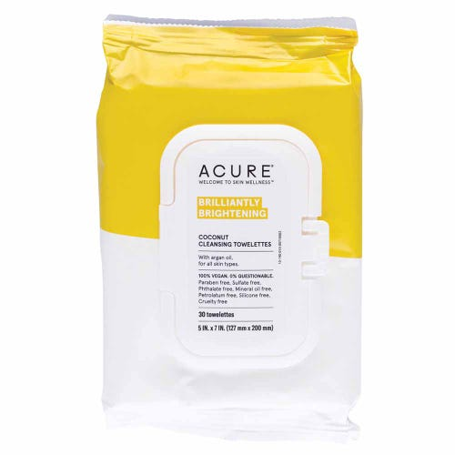 Acure Brightening Coconut Cleansing Towelletes