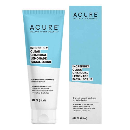 Acure Incredibly Clear Charcoal Facial Scrub