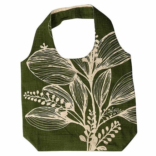 Apple Green Duck Foliage Shopper - Reverse Olive