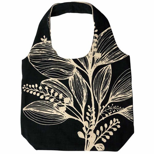 Apple Green Duck Foliage Shopper - Reverse Charcoal