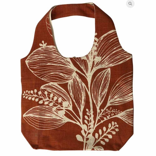 Apple Green Duck Foliage Shopper - Reverse Turmeric