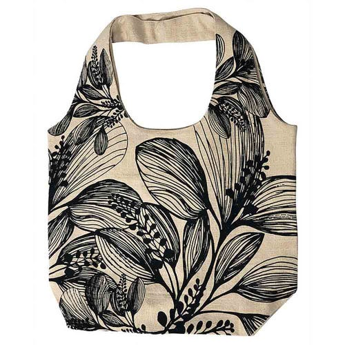 Apple Green Duck Foliage Shopper - Charcoal