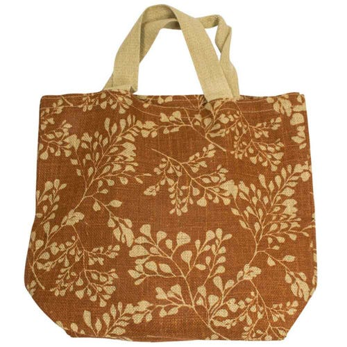 Apple Green Duck Jute Grocer Bag - Fern Bronze