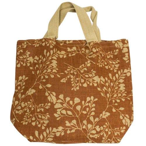 Apple Green Duck Jute Grocer Bag - Fern Bronze