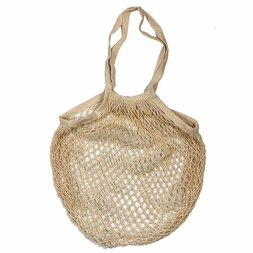Apple Green Duck Classic String Bag - Natural