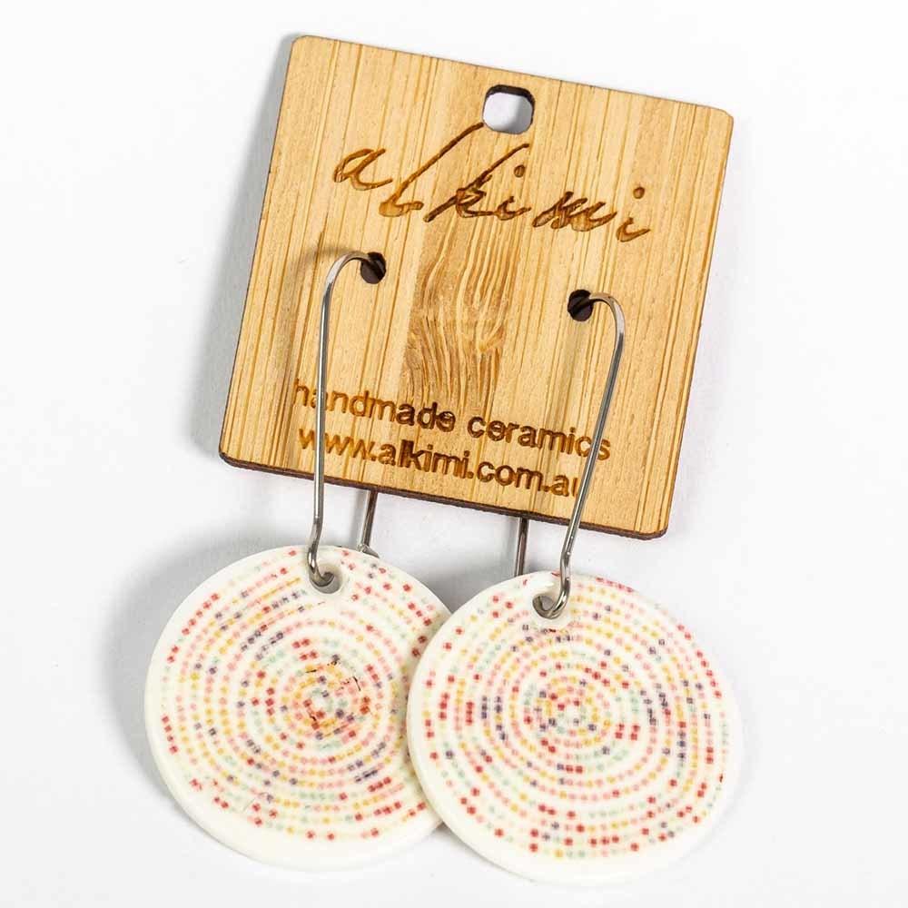 Alkimi Circle Dangle Earrings - Harlequin