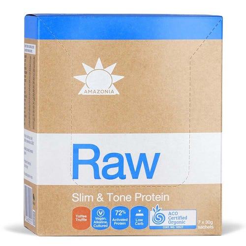 Raw Slim & Tone Protein Sachets - Toffee Truffle (7 x 30g)
