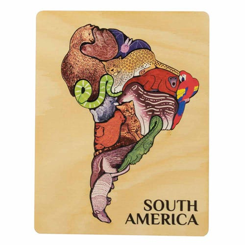 Animal Magic Wooden Puzzle South America | Flora & Fauna