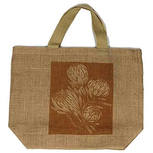 Apple Green Duck Jute Grocer Bag - King Protea Ochre