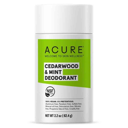 Acure Natural Deodorant - Cedarwood & Mint (63g)