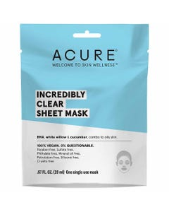 Acure Incredibly Clear Sheet Mask (20ml)
