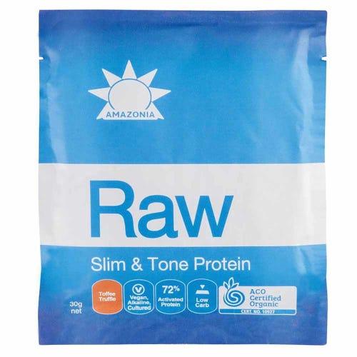 Raw Slim & Tone Protein Sachet - Toffee Truffle (1 x 30g)