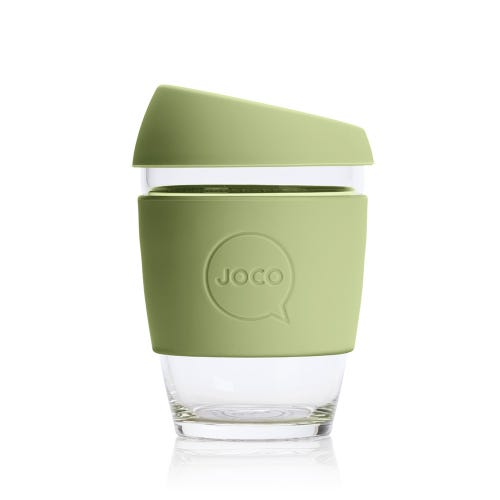 JOCO Reusable Glass Cup Army (12oz)