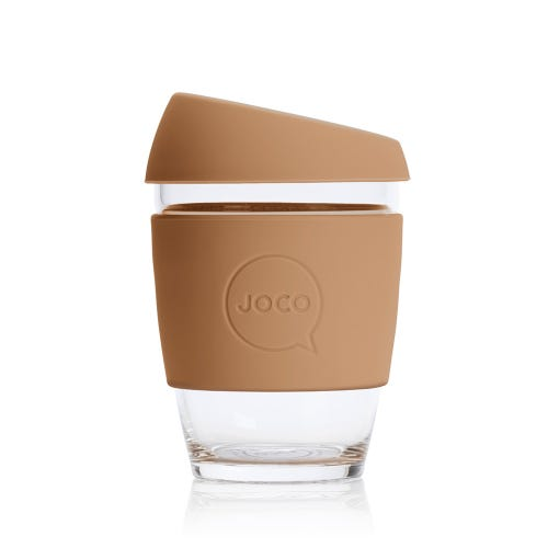 JOCO Reusable Glass Cup Butterrum (12oz)