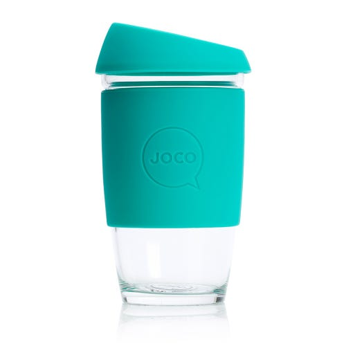 JOCO Reusable Glass Cup Mint (16oz)