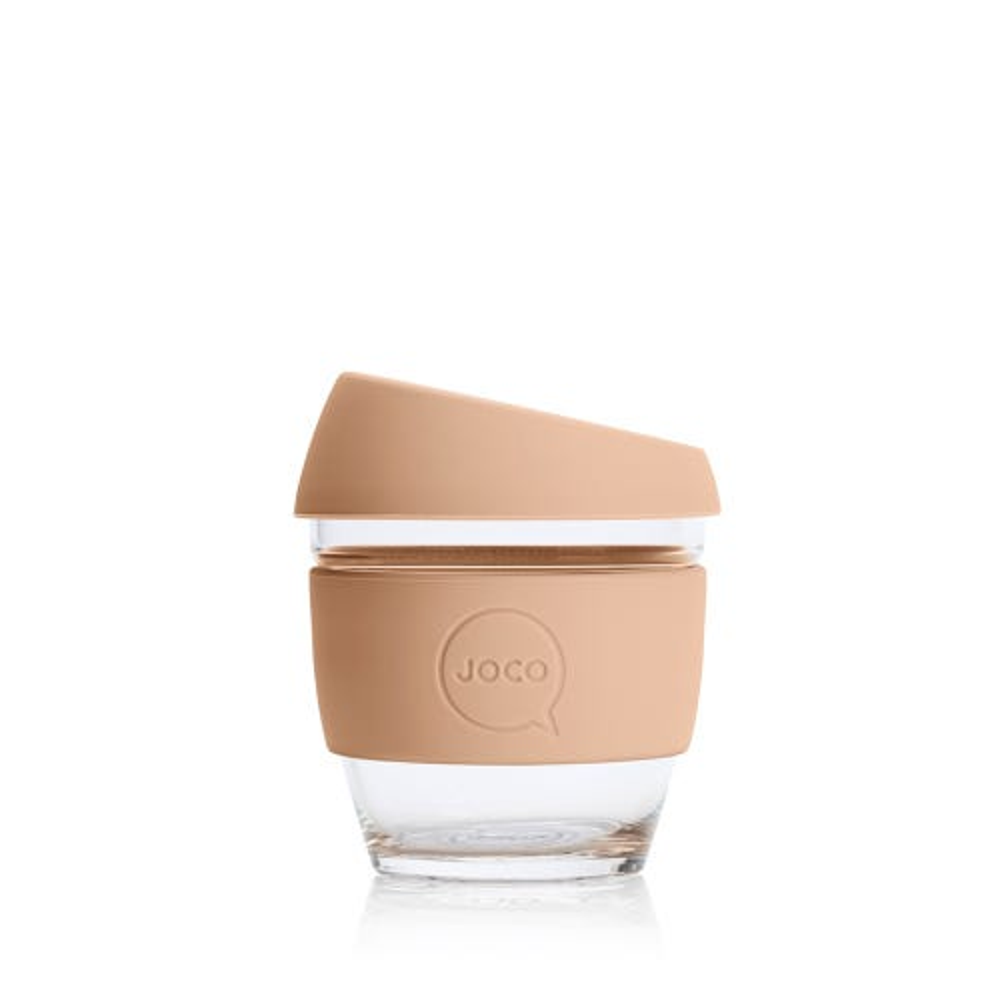 JOCO Reusable Glass Cup Amber Light (4oz)