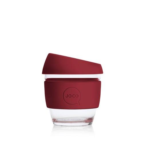 JOCO Reusable Glass Cup Ruby Wine (4oz)