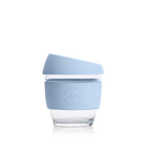 JOCO Reusable Glass Cup Vintage Blue (4oz)