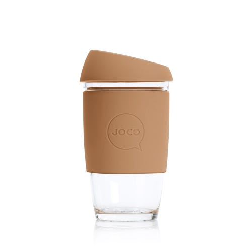 JOCO Reusable Glass Cup Butterrum (6oz)