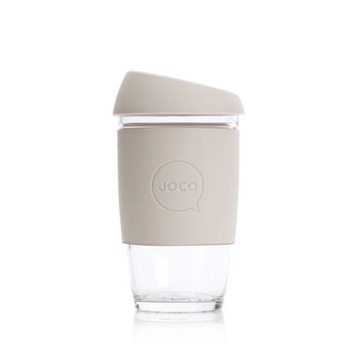 JOCO Reusable Glass Cup Sandstone (6oz)