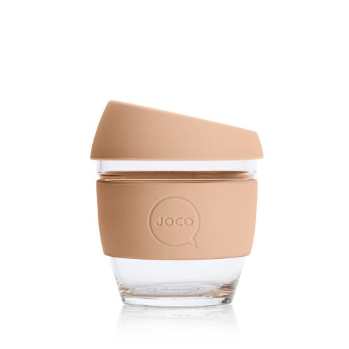 JOCO Reusable Glass Cup Amber Light (8oz)