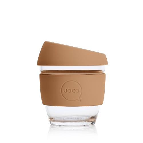JOCO Reusable Glass Cup Butterrum (8oz)