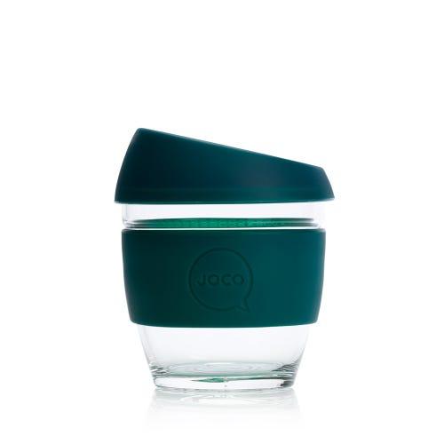 JOCO Reusable Glass Cup Deep Teal (8oz)