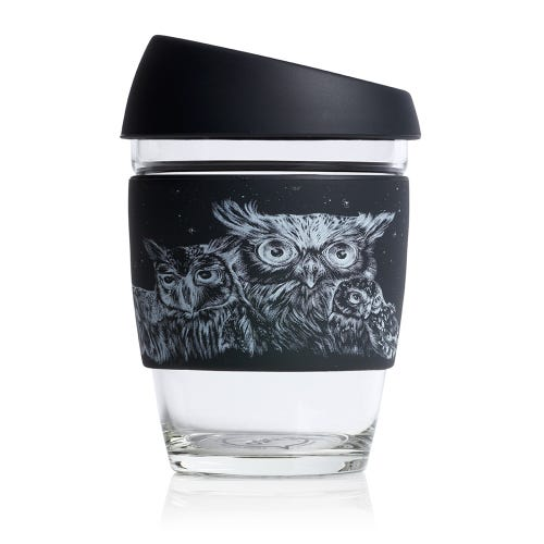 JOCO Reusable Glass Cup Artist Series Jen Lobo (12oz)