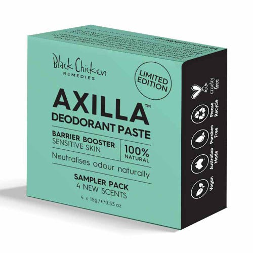 Black Chicken Axilla Deodorant Paste Barrier Booster Sample Pack