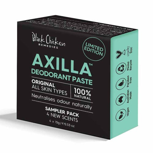 Black Chicken Axilla Deodorant Paste Original Sample Pack
