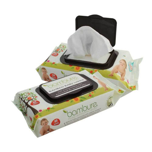 Bambure Bamboo Baby Wipes (80)
