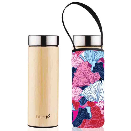 BBBYO Bamboo Thermal Tea Flask + Cover Fan (500ml)