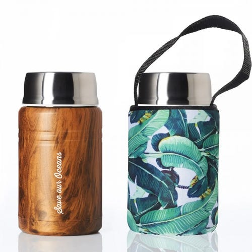 BBBYO Foodie Lunch Container 500ml + Cover - Banana Leaf