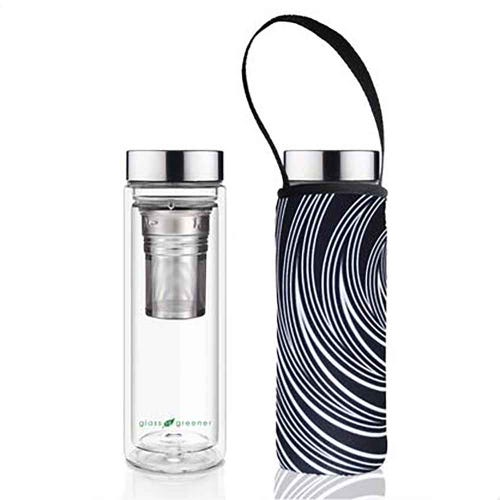 BBBYO Glass is Greener Thermal Tea Flask + Cover Spiral (500ml)