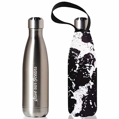 BBBYO Stainless Steel 500ml Bottle + Carry Cover - Whitewater