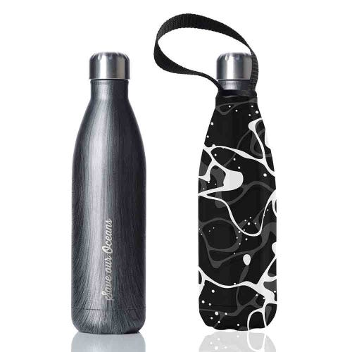 BBBYO Stainless Steel 750ml Bottle + Carry Cover - Blackwood + Pool