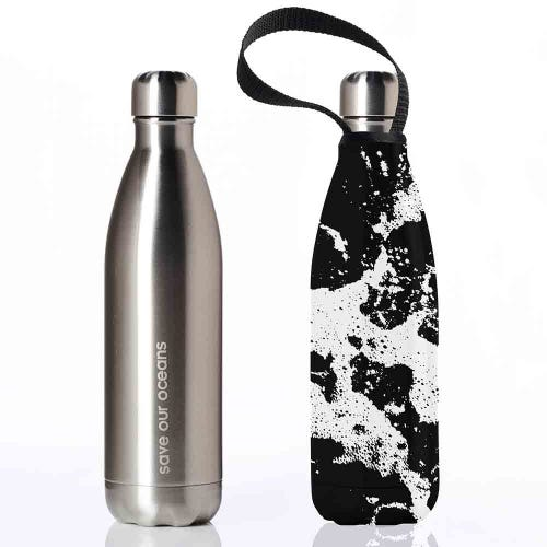 BBBYO Stainless Steel 750ml Bottle + Carry Cover - Whitewater