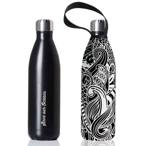 BBBYO Stainless Steel 1 litre Bottle + Cover - Koru