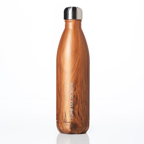 BBBYO Stainless Steel 750ml Bottle Woodgrain