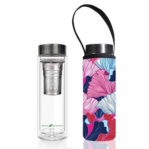 BBBYO Glass is Greener Thermal Tea Flask + Cover Fan (500ml)