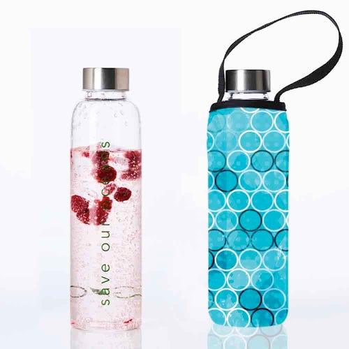 BBBYO Glass is Greener 570ml Bottle + Cover - Bubble