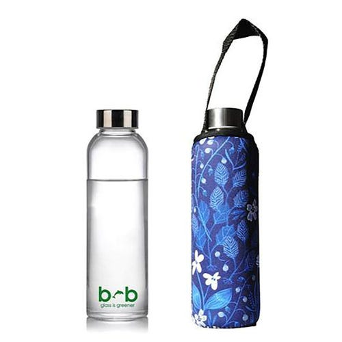 BBBYO Glass is Greener 570ml Bottle + Carry Cover - Bloom