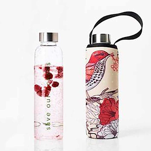 BBBYO Glass is Greener 570ml Bottle + Carry Cover - Bird